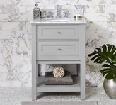 Pottery Barn Classic Single Sink Mini Vanity - Gray