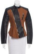 3.1 Phillip Lim Wool & Leather Trim Biker Jacket