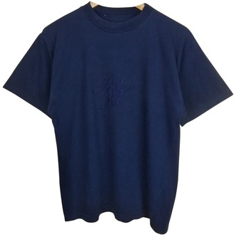 Nina Ricci Blue Cotton Top for Women Vintage