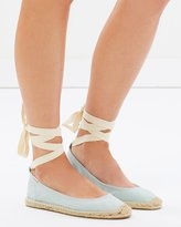 Soludos Ballet Tie Up Flats