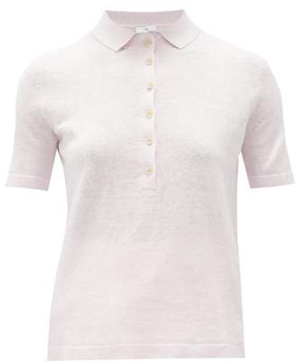 Allude Knitted Polo Shirt - Womens - Light Pink