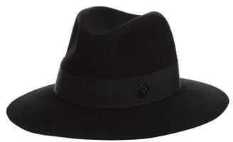 Maison Michel Henrietta Showerproof Felt Hat - Black