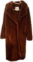 BA&SH Bash Fall Winter 2019 Brown Faux fur Coats