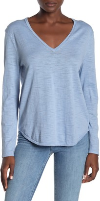 360 Cashmere Jemma V-Neck Long Sleeve T-Shirt
