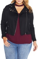 Plus Size Women's Rebel Wilson X Angels Lyocell Moto Jacket