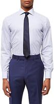 Jaeger Bold Stripe Regular Fit Cotton Shirt, Blue