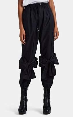 Simone Rocha 4 MONCLER Women's Bow-Embellished Crop Pants - Navy