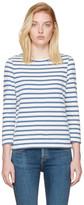 A.P.C. Blue Striped Dream T-Shirt