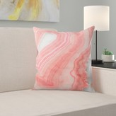 """Painted Agate Throw Pillow East Urban Home Size: 14"""" H x 14"""" W x 1.5"""" D"""