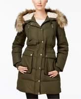 BCBGeneration Faux-Fur-Trim Down Puffer Coat