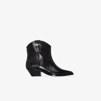 Isabel Marant Black Dewina 40 leather Western boots