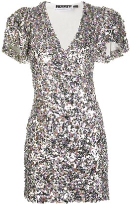 Rotate by Birger Christensen V-neck sequin-embellished dress