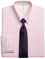 Brooks Brothers Original Polo® Button-Down Oxford Regent Fitted Dress Shirt, Small Windowpane