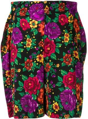 Comme des Garcons Pre-Owned floral print flat shorts