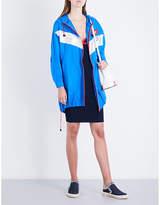 Mo&Co. Ladies Brilliant Blue Exposed Zip Colour Block Shell Windbreaker