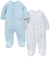 Little Me Baby Boys' 2-Pk. Puppy & Bear Footed Coveralls