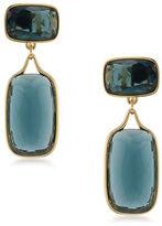 Lauren Ralph Lauren Lauren Treasure Trove Blue and 12K Gold-Plated Double Drop Clip-On Earrings