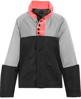 Alexander Wang Oversized Color-block Satin-twill Jacket - Gray
