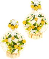 Mercedes Salazar Fiesta Lemon Clip On Earrings