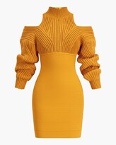 Thumbnail for your product : Herve Leger Cable & Bandage Mini Dress