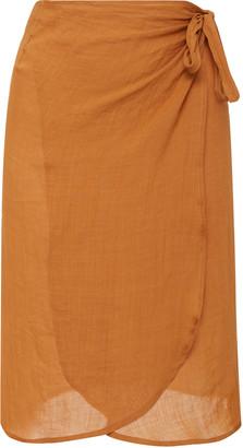 Anemos The Femme Ramie Wrap Skirt