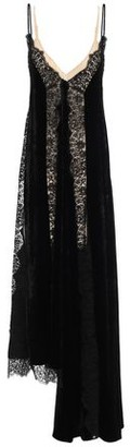 Stella McCartney Guipure Lace-paneled Velvet Midi Dress