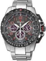 Seiko Men's Prospex Aviator Solar Chronograph Stainless Steel Bracelet Watch 44mm SSC315