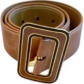 Miu Miu Beige Leather Belt