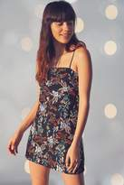 Urban Outfitters Embroidered Ponte Straight-Neck Dress