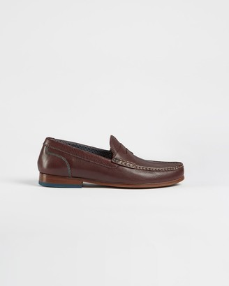 Ted Baker Leather Saddle Loafers