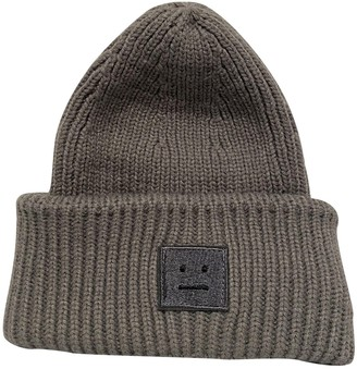 Acne Studios Grey Wool Hats