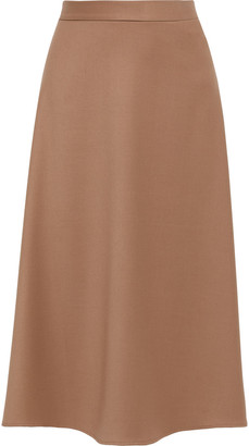 Iris & Ink Eleni Stretch-twill Midi Skirt