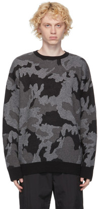 Juun.J Black Camo Sweater