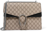 Gucci Dionysus Medium Coated-canvas And Suede Shoulder Bag - Beige