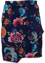 Blush Lingerie Junior Girls Wrap Front Skirt Navy