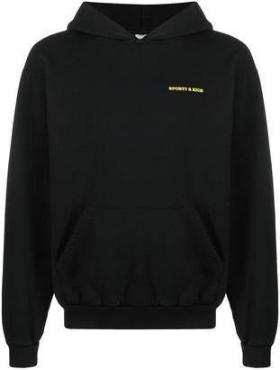 Sporty & Rich Sun Club hooded sweatshirt