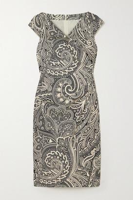 Max Mara Vosci Wrap-effect Paisley-print Cotton Dress