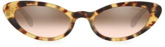 Miu Miu 53MM Tortoise Cat Eye Sunglasses