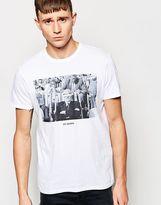 Ben Sherman T-shirt With Ray Jones Photo Print - White
