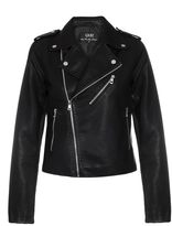 Quiz Black PU Biker Jacket