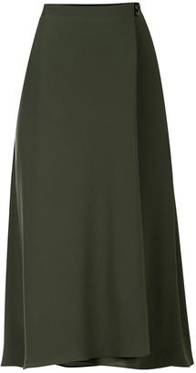 Flow Wrap Skirt In Khaki