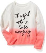 Old Navy Graphic Dip-Dye Sweatshirt for Girls