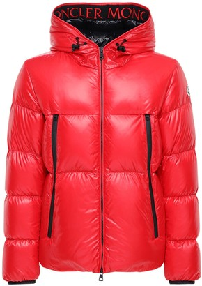 Moncler Hooded Baronnies Nylon Laque Down Jacket