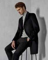 SQUISH Shearling collar overcoat
