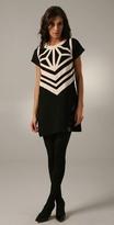 Karta Geometry Cutout Mini Dress