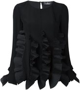 Capucci ruffled detailing longsleeved blouse