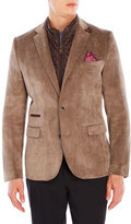 English Laundry Tan Quilted Bib Corduroy Blazer