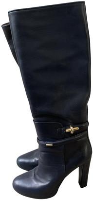 Balenciaga Navy Leather Boots