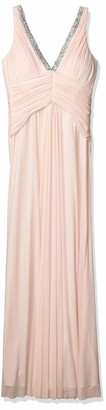 Marina Women's Power Mesh Shirred Gown