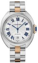 Cartier Clé de Automatic Large 18K Pink Gold & Stainless Steel Bracelet Watch